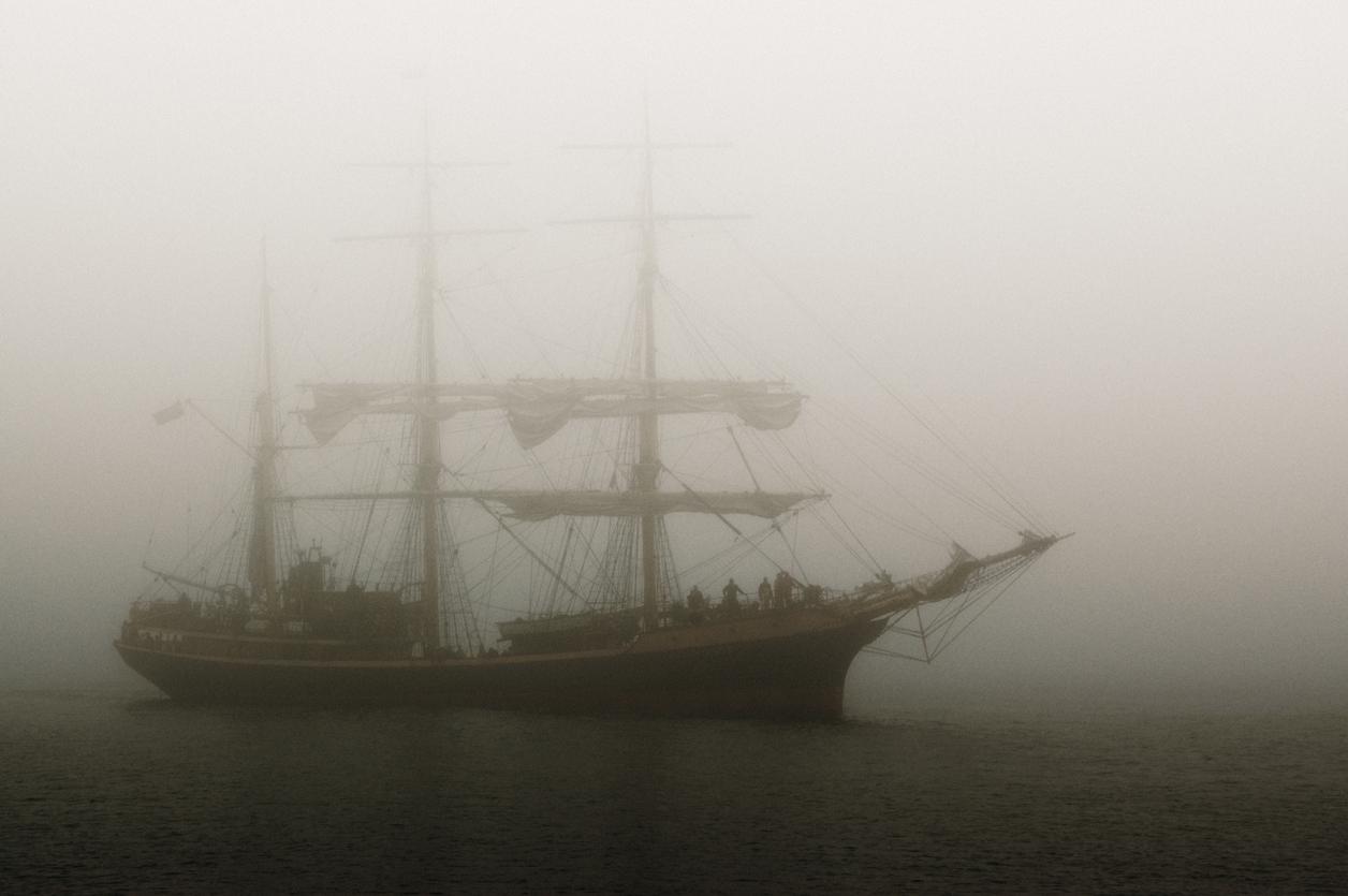 """Båtskräck med """"Ghost ship"""""""